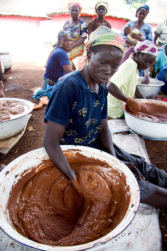 Women focused training of the production of shea butter in Ghana