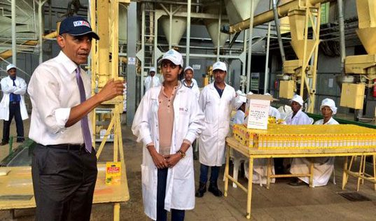 President Obama Tours TechnoServe Project in Ethiopia