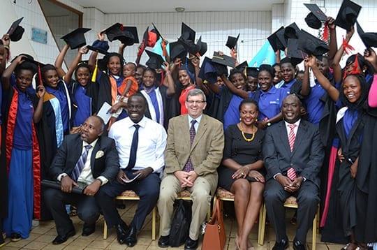 Will at the Girl's Apprentice Program graduation in Kampala, Uganda, on November 12