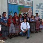 Rene with the women of Casa Doña Flor, a jam producer in Totonicapán, Guatemala.