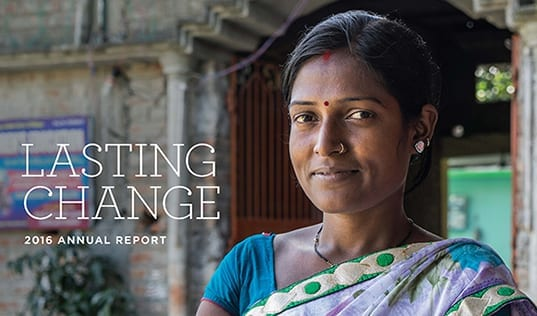 Lasting Change: 2016 Annual Report