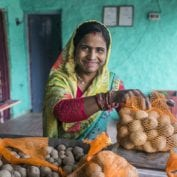 Collection centre owner and farmer Asha Devi