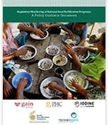 Food fortification regulatory monitoring