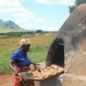 Baking bread in Mozambique