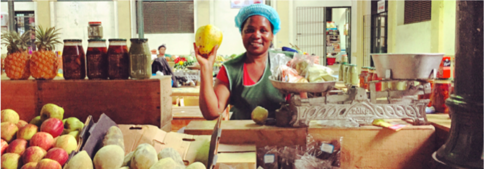 Retailer in Maputo, Mozambique from the WIN project