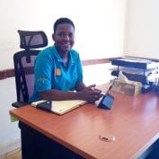 Smiling business woman in Uganda