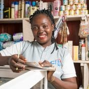 woman entrepreneur in her shop in Abuja, Nigeria