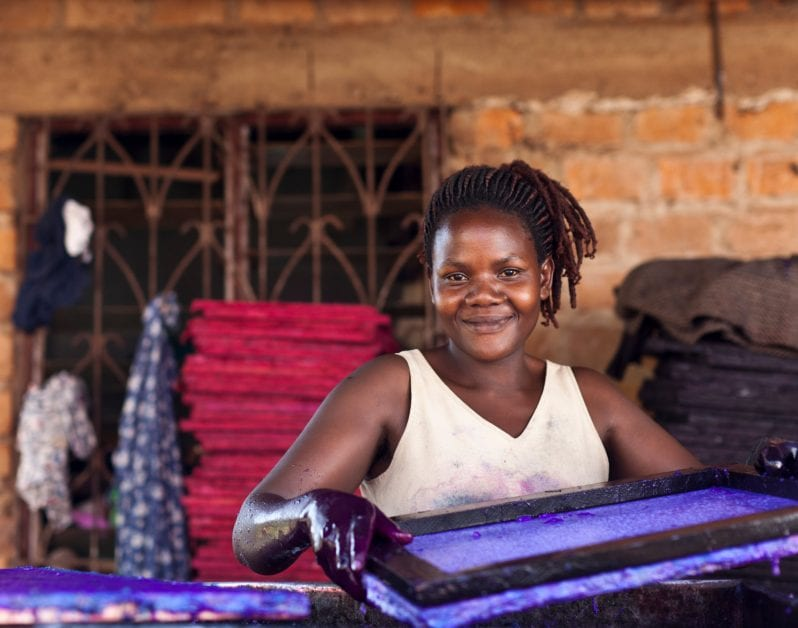 Paper Craft Africa in Kampala, Uganda, employs 25 people, many of them young, single mothers. Women Mean Business program.