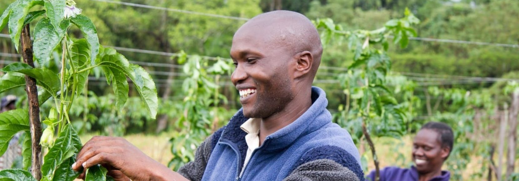 farmer and participant in Project Nuture in Kenya