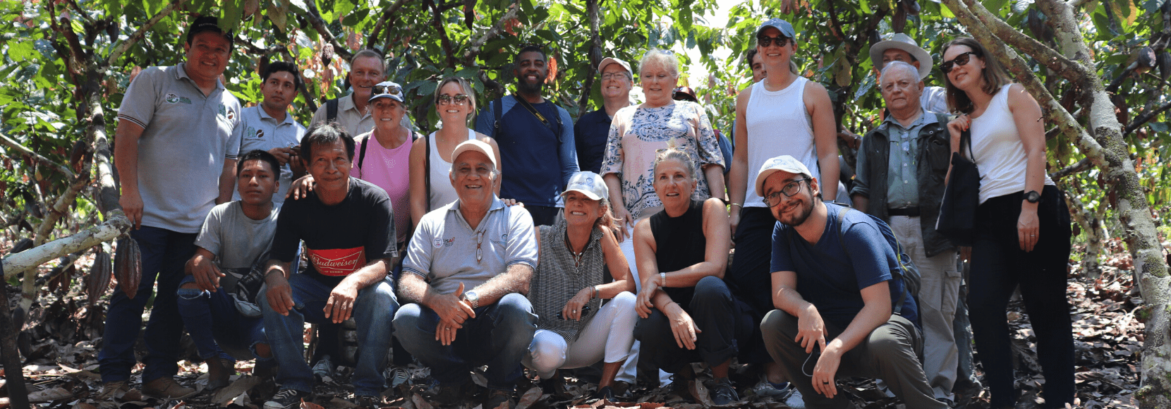 Global Advisory Council members on a field visit to Peru