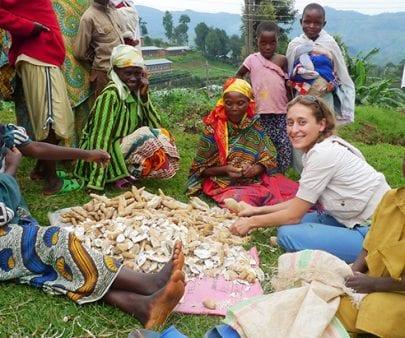 TechnoServe Fellow working in Rwanda