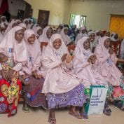 Group of women smiling in rural Nigeria
