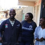 Duka owners smiling in Kenya