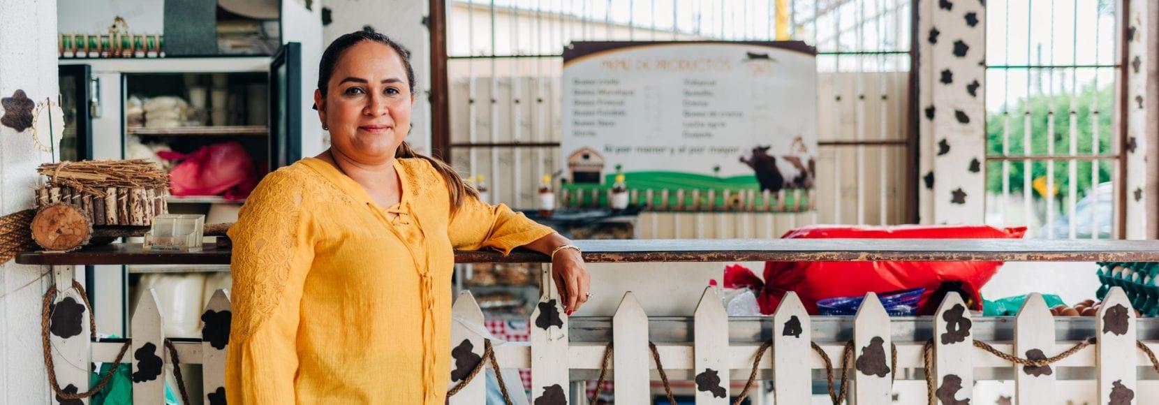 Idalia Medina stands in her shop in Managua, Nicaragua