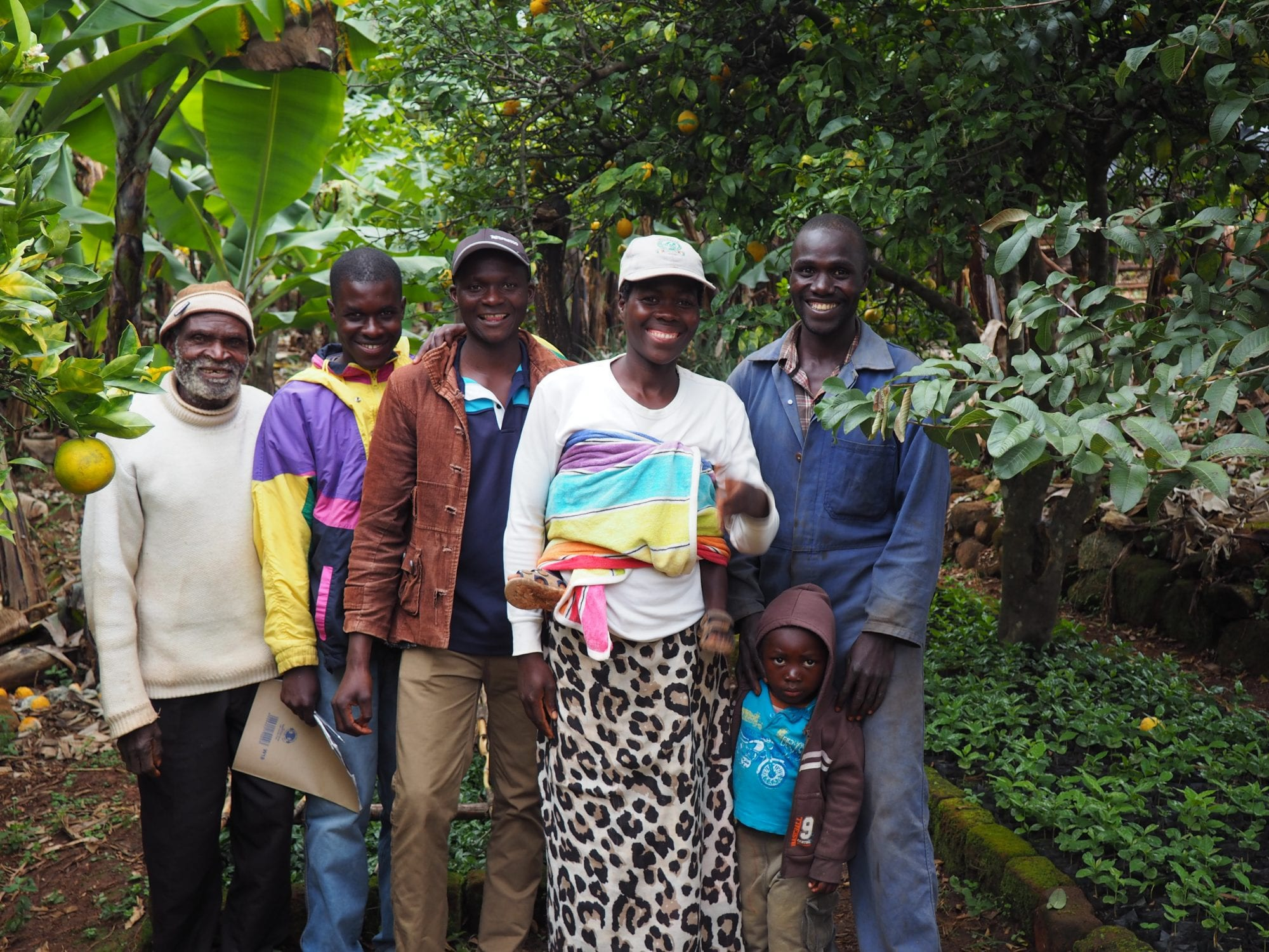 A group of coffee farmers in Zimbabwe's Honde Valley.