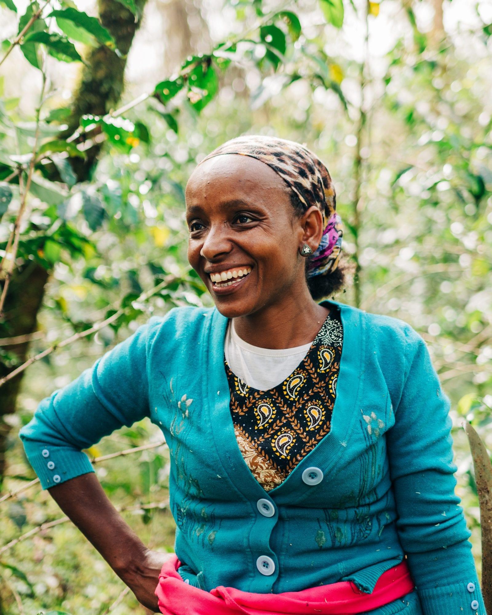 Lubaba is a coffee farmer in western Ethiopia