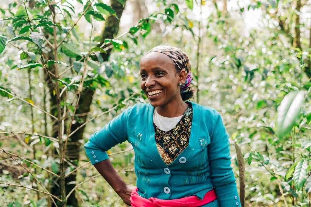 U.N. Food Security Report blog hero image - Lubaba is a coffee farmer in western Ethiopia -