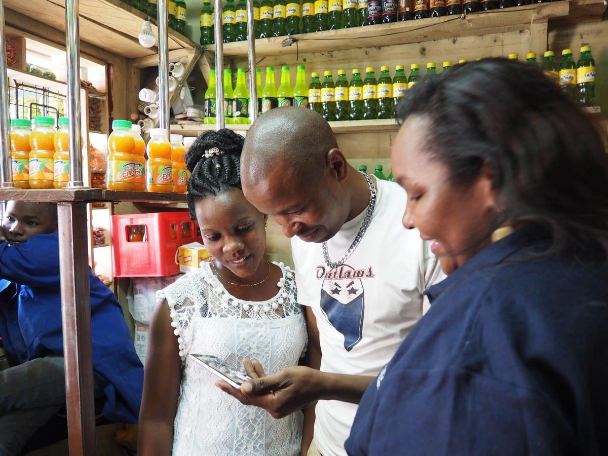 A shopkeeper in Kenya