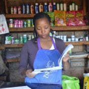A shopkeeper in Kenya