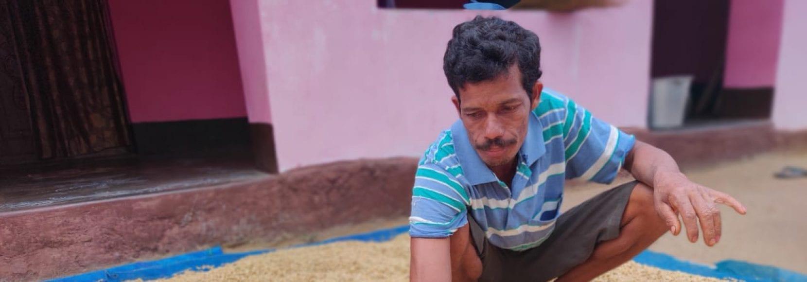 Palika Raju is a coffee farmer in Andhra Pradesh, India