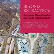 Beyond extracting: Economic Opportunities in Mining Communities