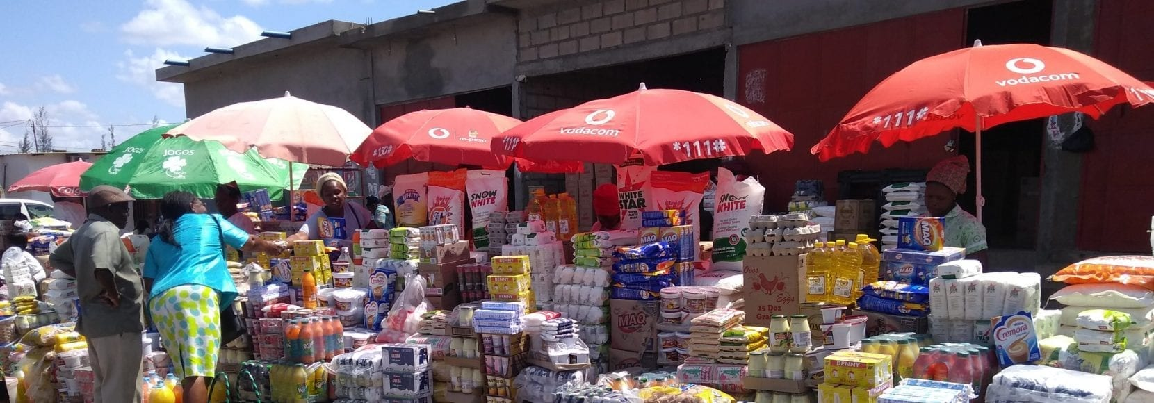 A market in Mozambique