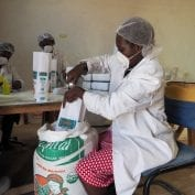 A food processing facility in Kenya
