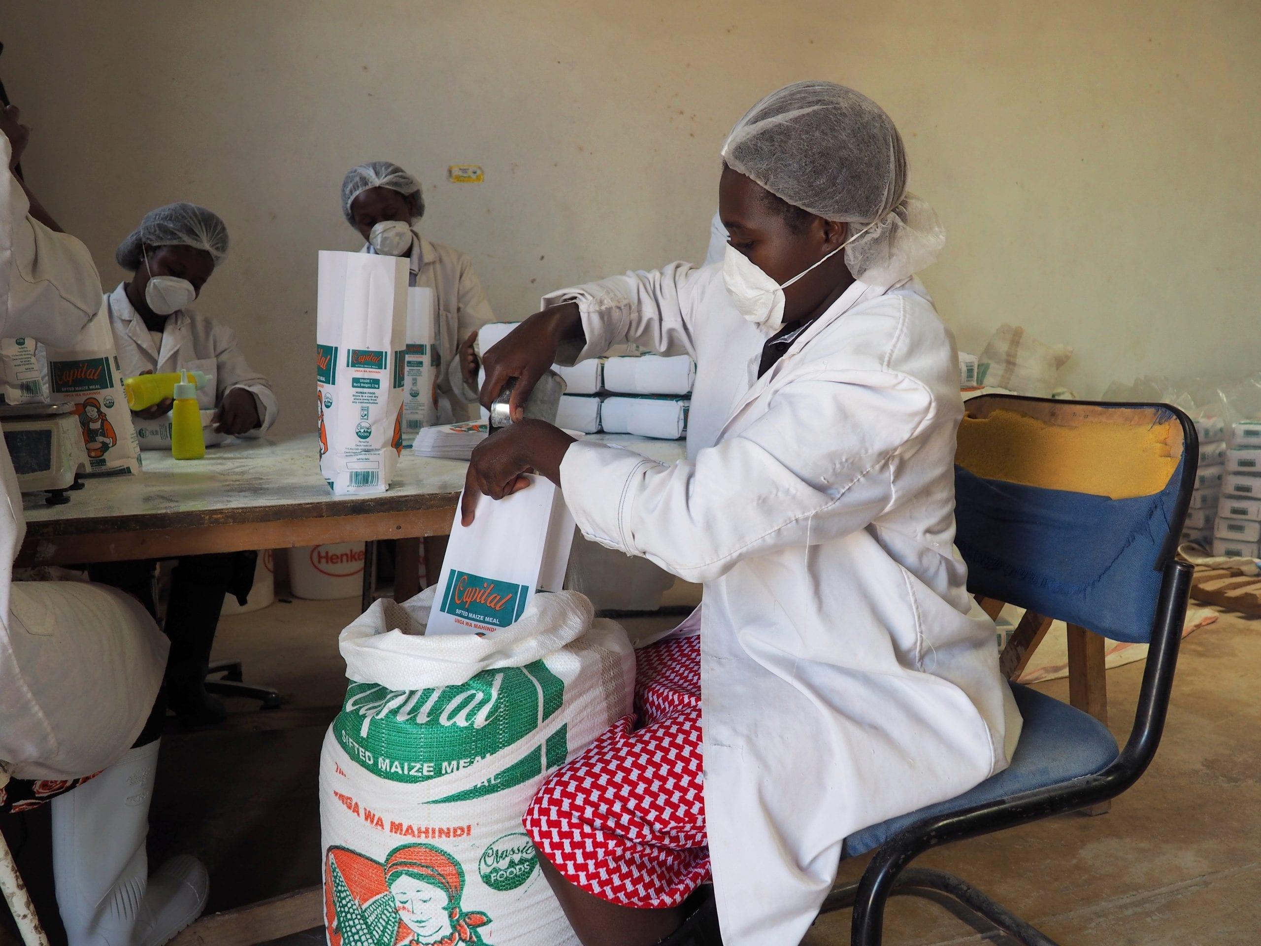 A food processing facility in Kenya