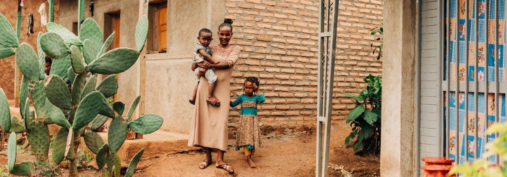 A coffee farming family in Ethiopia