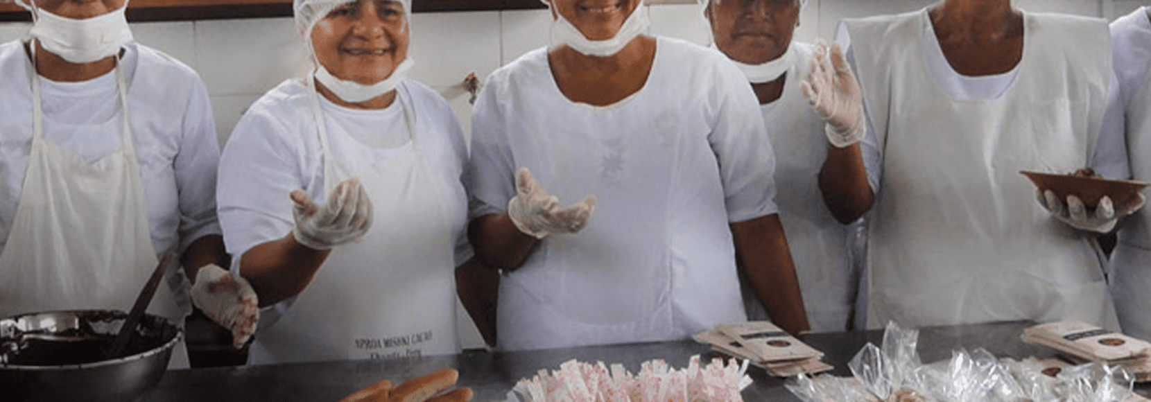 Group of women smiling after cooking