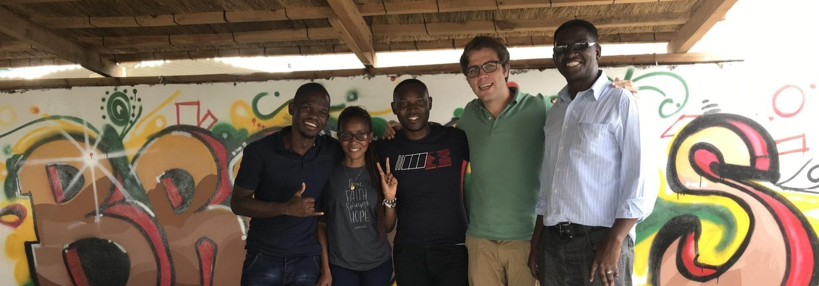 TechnoServe Fellow with team in Zambia working on food security and malnutrition initiatives