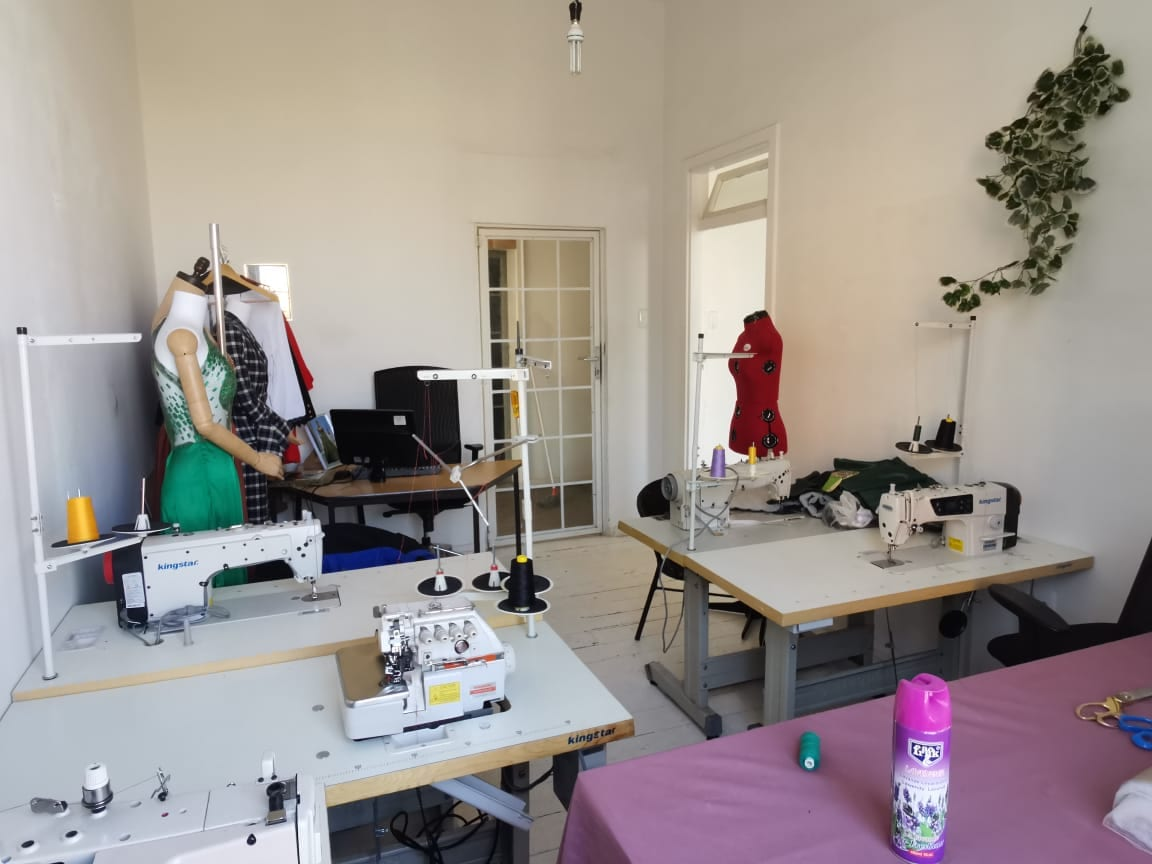 Sewing room of a woman-owned fashion brand in South Africa