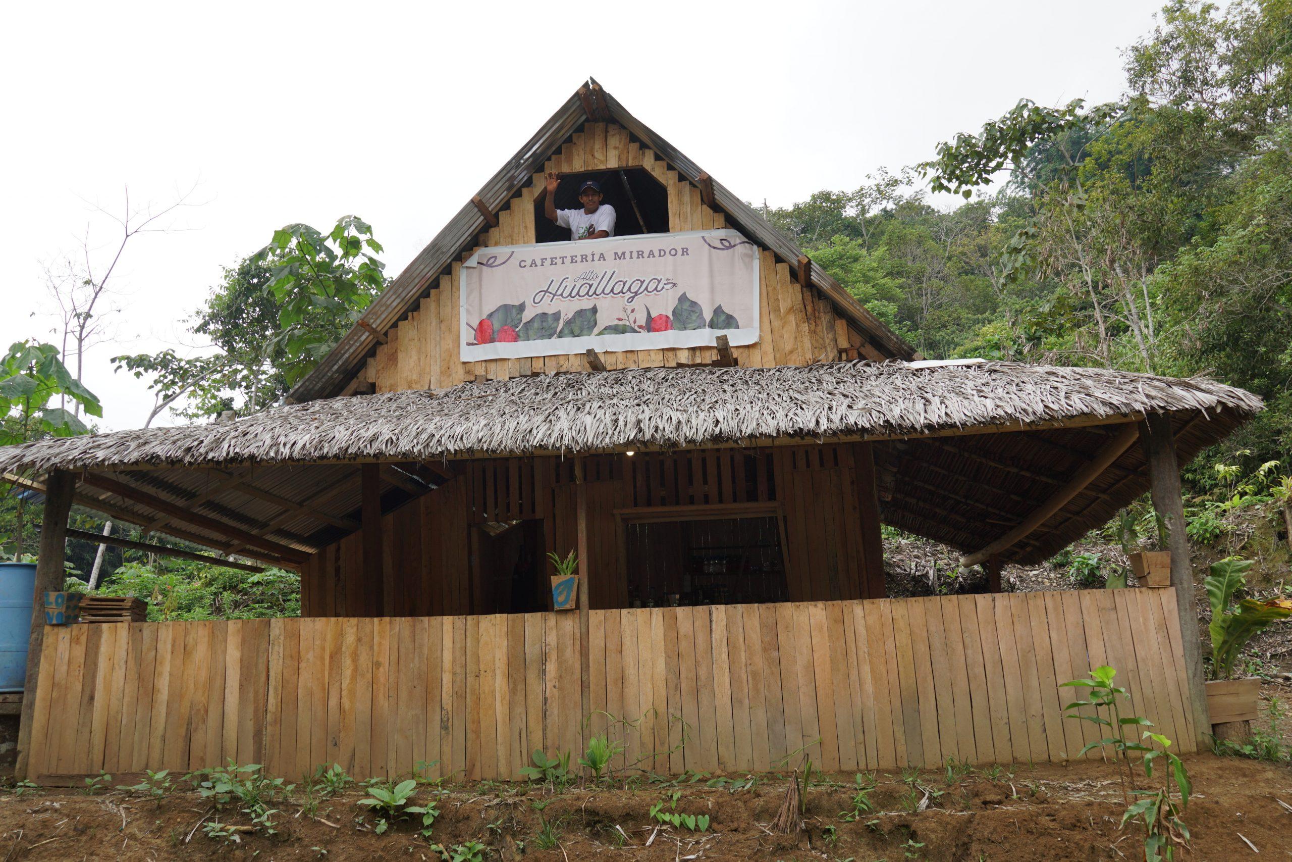 Cruz's coffee shop in central Peru