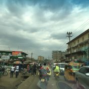 A busy street in Nairobi, Kenya