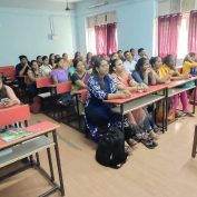 Parents attend a session as part of the Campus to Corporates program.