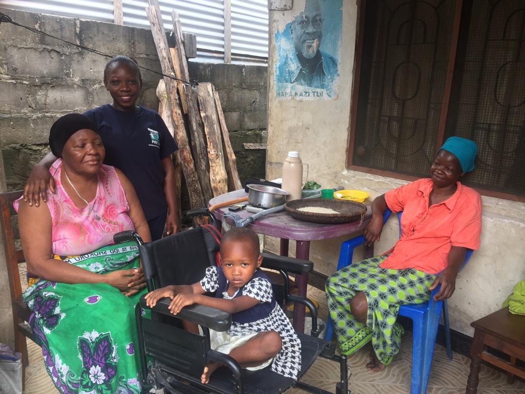 youth unemplyment impacts countless people in Tanzania, like Asia Abdallah, featured here with three of her family members in Dar es Salaam, Tanzania