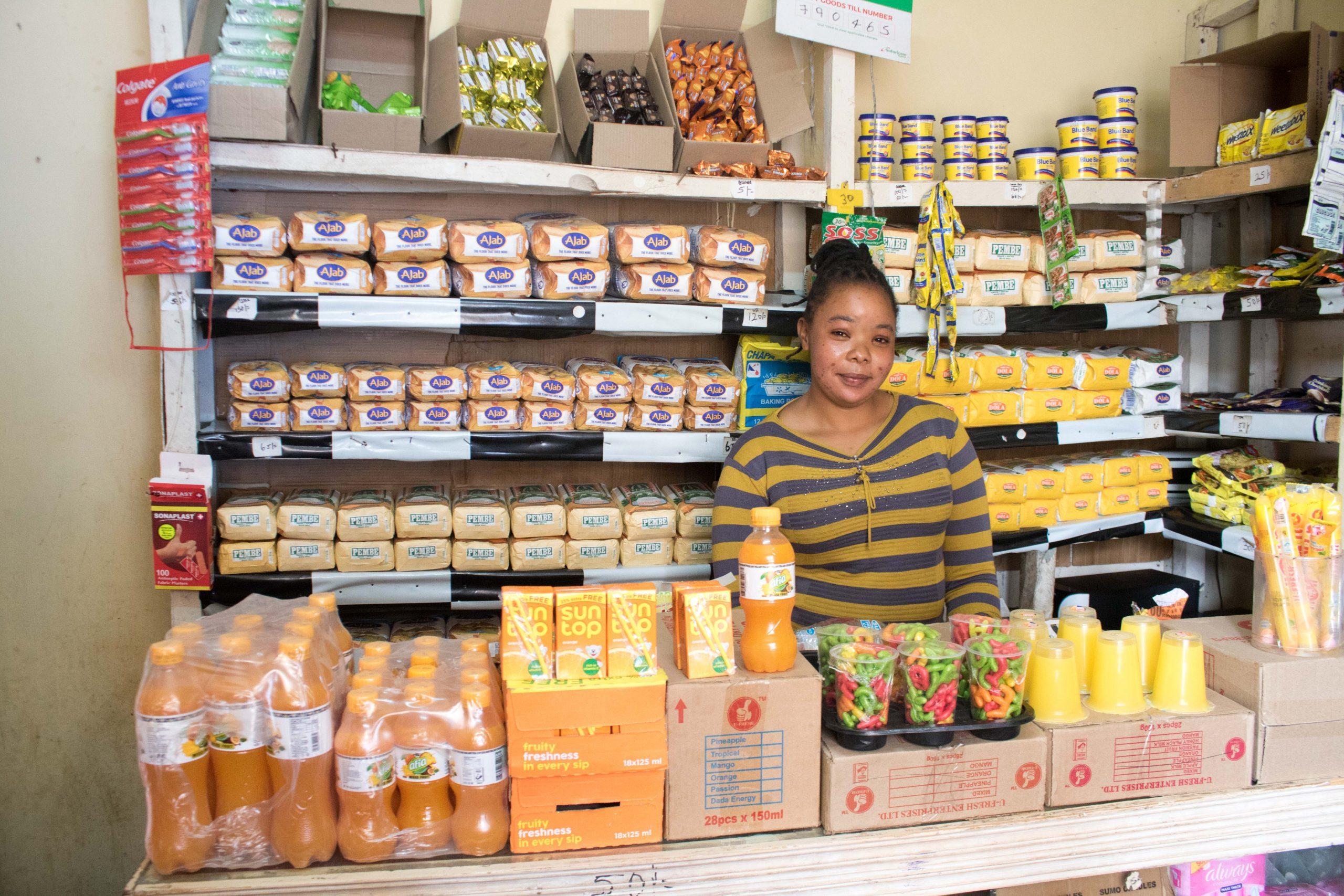 Micro-retailers like Jacinta Musyoka gain access to finance and technical support through the mSPARK program.