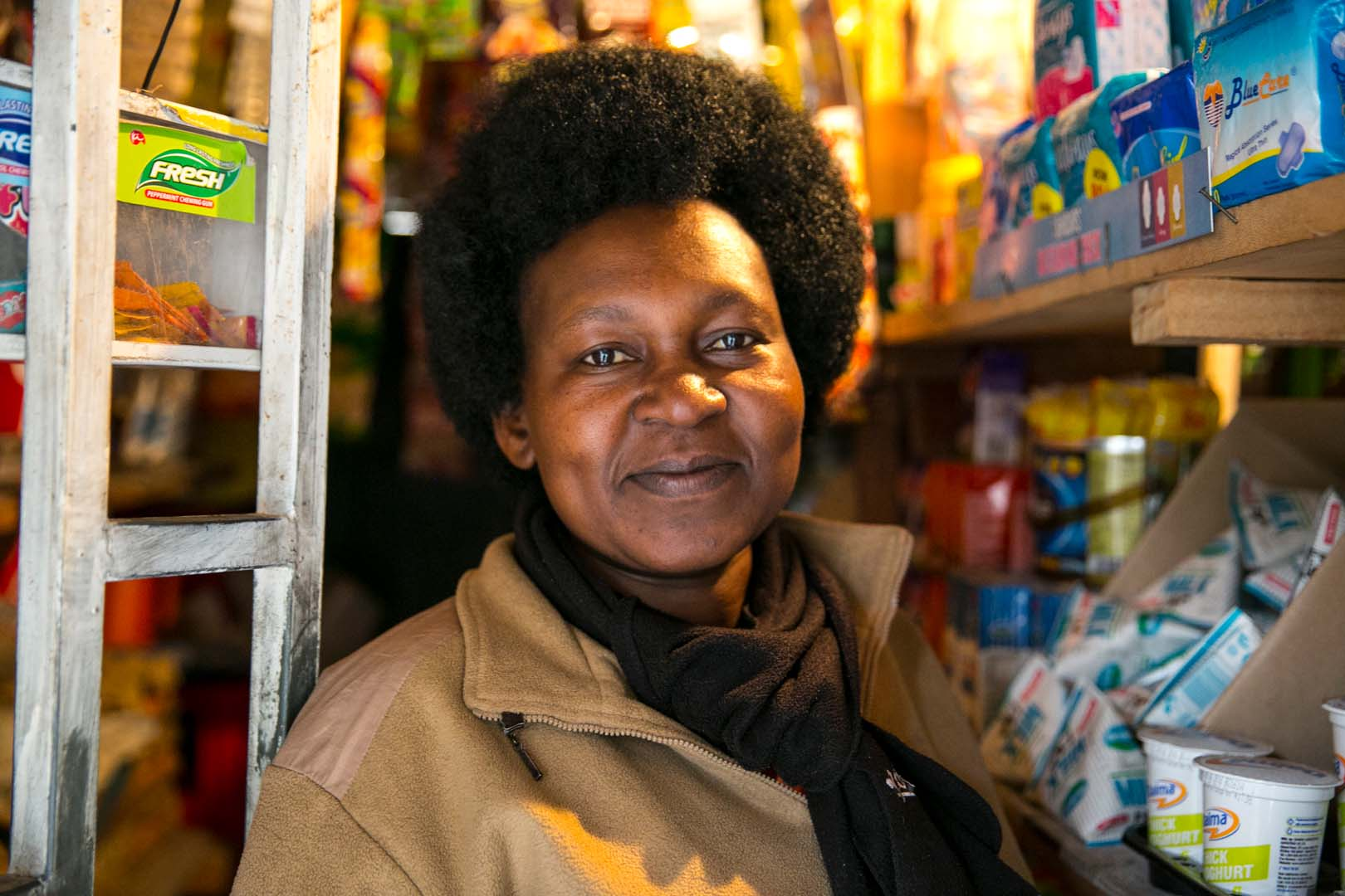 Business solutions to poverty help micro-retailers in Kenya improve their lives and livelihoods.