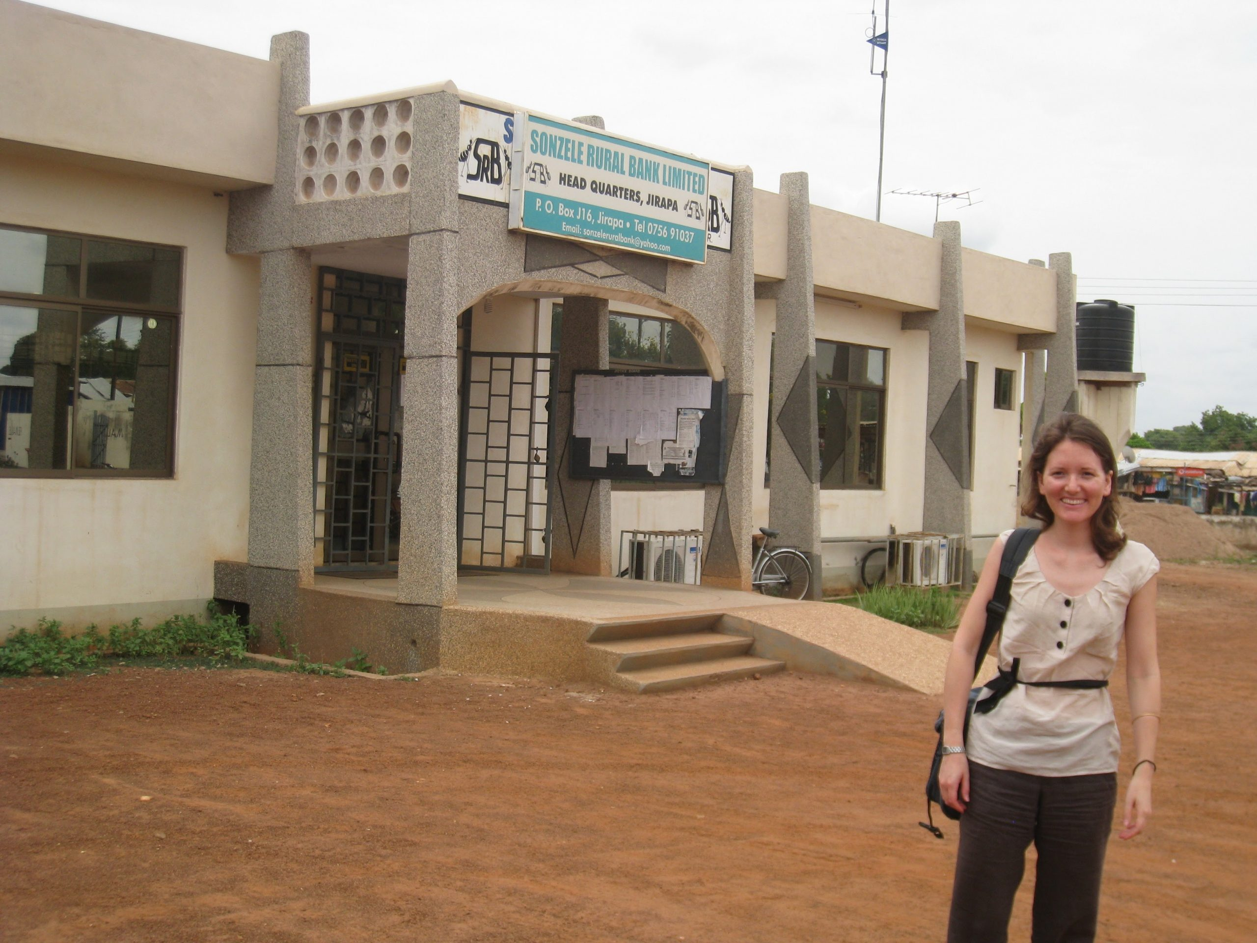 Photo of Julia Podevin, a former TechnoServe Fellow who worked in Ghana in 2011.