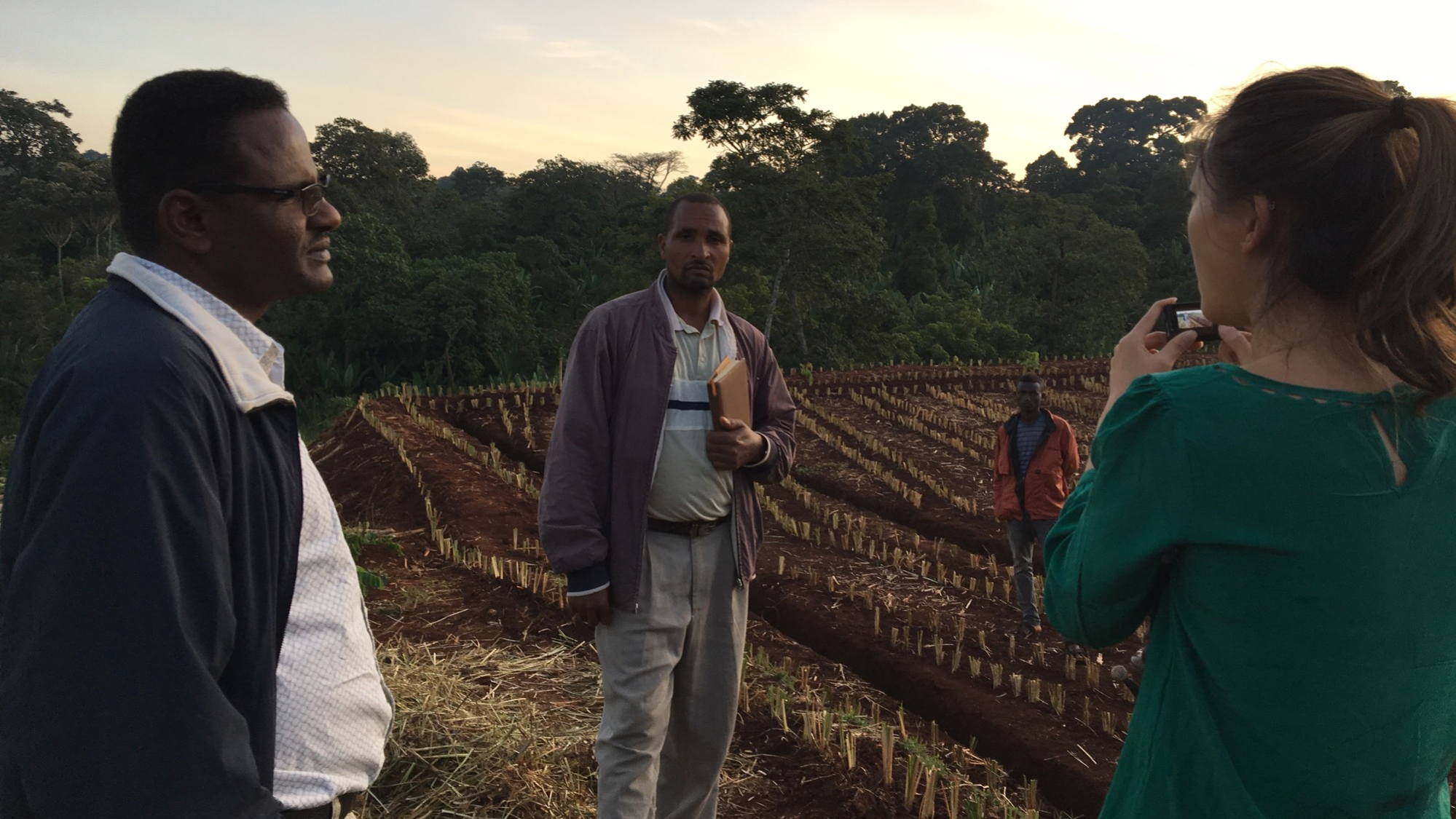 Photo of Ariana Day Yuen in Ethiopia. Ariana started an agroforestry enterprise after serving as a TechnoServe Fellow.
