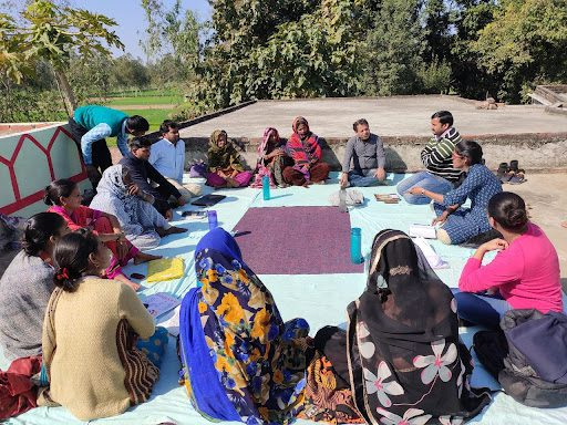Learn about a program that helps This program helps women Build Sustainable Livelihoods Through Farming and Leadership in India. Women-led Ekta Mahila Kisan Sewa Mandal trustees meet to discuss the FPO's operations.
