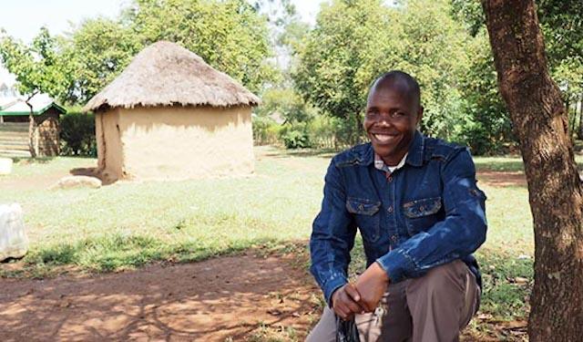 Maize farmer Peter Rotich in rural Kenya
