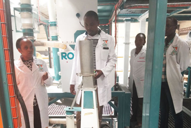 The TechnoServe team on a plant visit provides on-site technical assistance (TA)