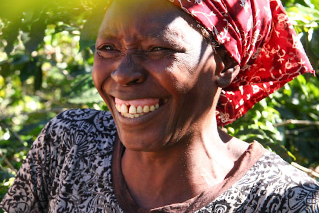 Anna Ushumba, a smallholder coffee farmer in Zimbabwe