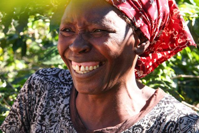 Anna Ushumba, a smallholder coffee farmer in Zimbabwe