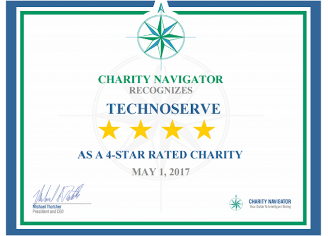 Charity Navigator Rating for TechnoServe