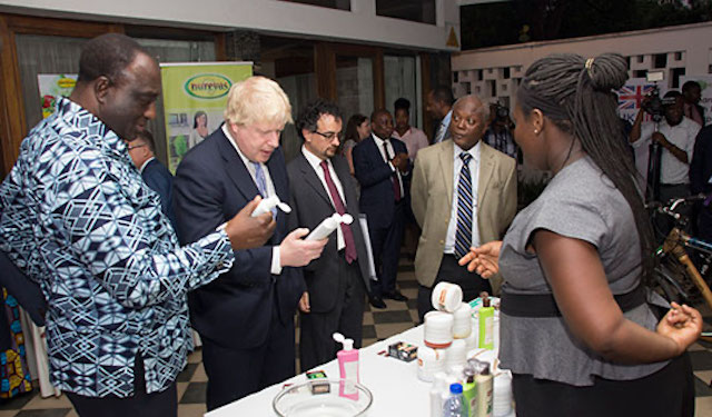 Boris Johnson meets ENGINE beauty product entrepreneur