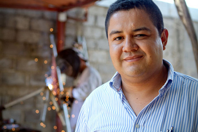 Entrepreneur with his printing business in Nicaragua
