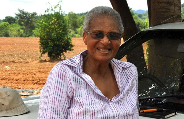 Women vegetable farmer in South Africa
