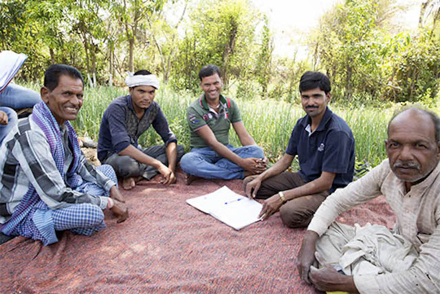 TechnoServe farming training session in India